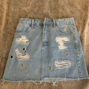 Denim mini skirt size 25